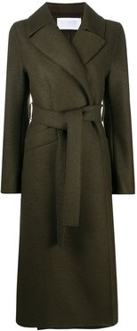 Long belted trench coat - Green