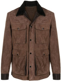 suede safari jacket - Brown