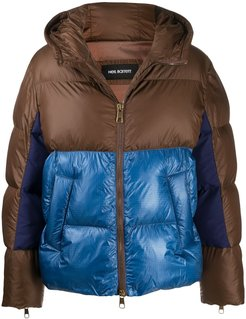 two-tone padded jacket - Neutrals