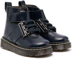 ankle-strap boots - Blue