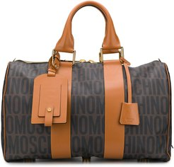 logo print holdall - Brown