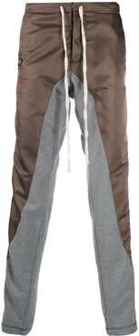 panelled track pants - Brown