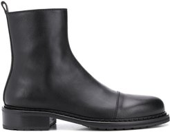 round toe ankle boots - Black
