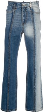 faded straight-leg jeans - Blue