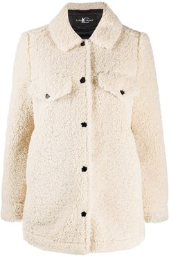 shearling jacket - White