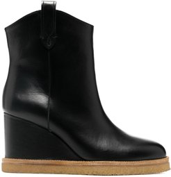 Cristina wedge ankle boots - Black