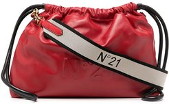 leather crossbody pouch bag - Red