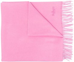 embroidered logo scarf - PINK