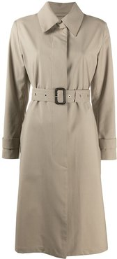 belted mid-length trench coat - Neutrals