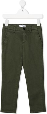 mid-rise chino trousers - Green
