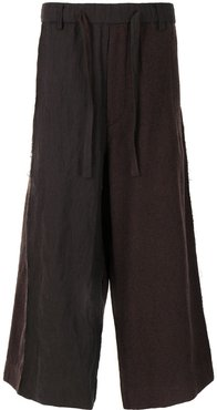 paperbag panelled trousers - Brown