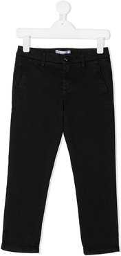 slim-fit chino trousers - Black