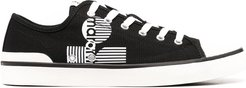 low-top lace-up sneakers - Black