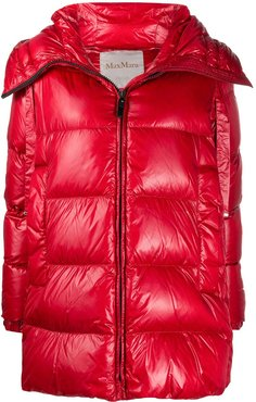 padded down coat - Red