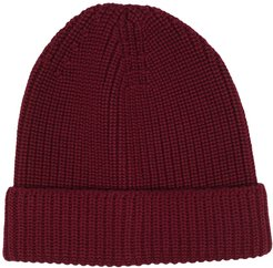 chunky-knit beanie - Red