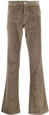 corduroy flared trousers - Brown