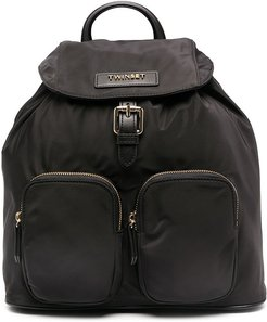 logo plaque backpack - Black