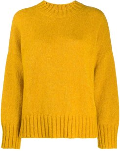 knitted crew-neck jumper - Yellow