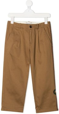 mid-rise chino trousers - Brown