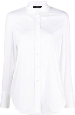 long sleeve buttoned shirt - White