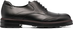 lace-up leather shoes - Black