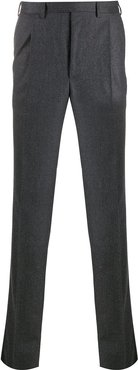 straight-leg tailored trousers - Grey