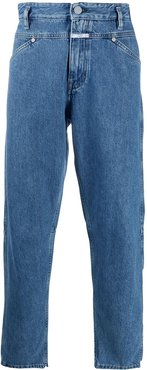 mid-rise tapered trousers - Blue