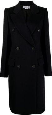 double-breasted tailored coat - Blue