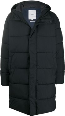long quilted coat - Blue