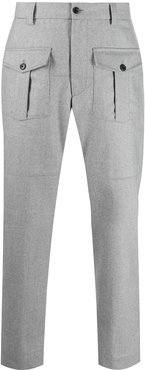 casual wide-leg trousers - Grey