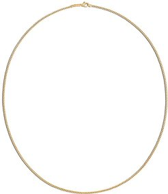18kt yellow gold Classic Chain Curb Link necklace