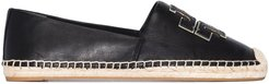Ines flat leather espadrilles - Black