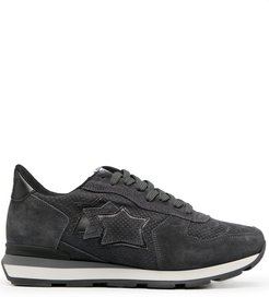 lace-up suede trainers - Grey