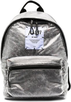 logo patch backpack - Grey