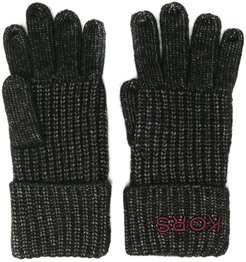 chunky knitted gloves - Black