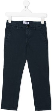 mid-rise straight chinos - Blue