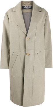 Carro single-breasted coat - Brown
