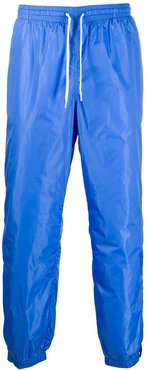 embroidered logo track trousers - Blue