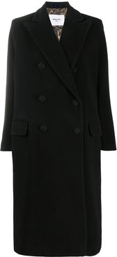 Arianna double-breasted wool coat - Black