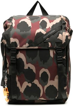 all-over patterned backpack - Green