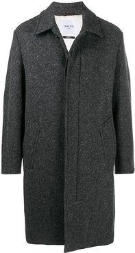 single-breasted wool coat - Grey