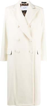 double-breasted tailored coat - White