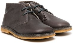 square toe ankle boots - Brown