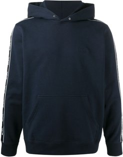 horse and carriage tape hoodie - Blue