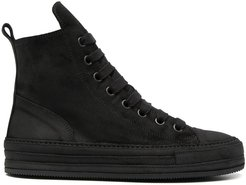 suede high-top sneakers - Black