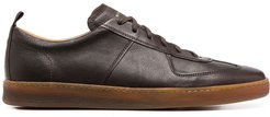 leather low-top sneakers - Brown