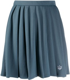 recycled pleated skirt - Blue