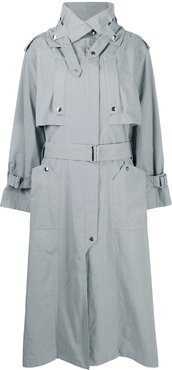 belted trench coat - Grey