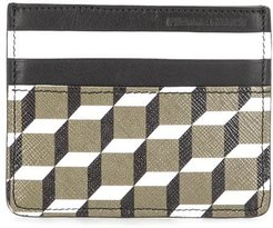 Perspective Cube-print cardholder - Green