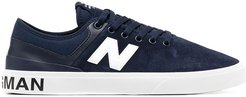 lace-up low top sneakers - Blue